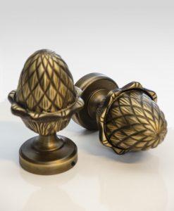 Ändknopp Royal Brass, antikmässing, 45 mm