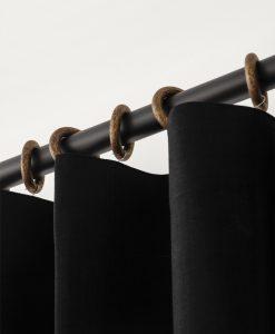 Gardinring i trä, antikguld, Hasta