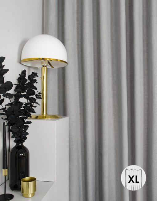 Gardin, mörkläggande, ljusgrå, extra bred och hög