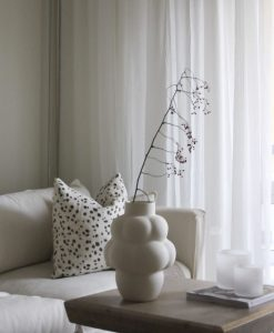 Curtain SKIMRA, white, extra long & wide