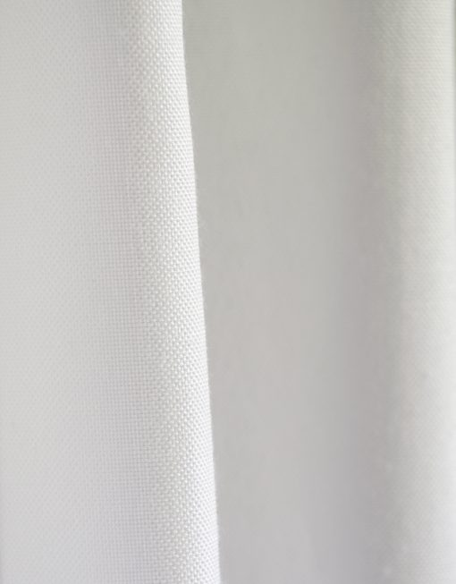 Måttillverkad hotellgardin Leo, vit