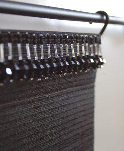 Pärlband Charleston, svart, 2.25 m