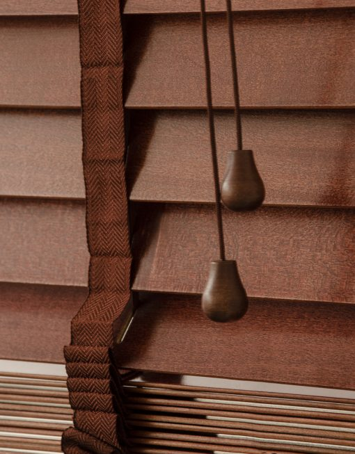 Träpersienn, lamellbredd 50 mm, mahogny