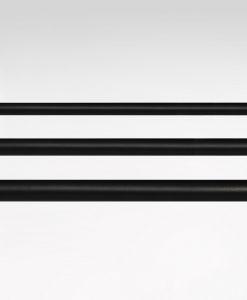 Gardinstång svart, flera storlekar