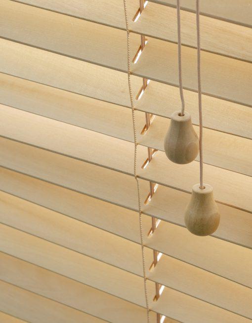 Träpersienn Light Line, lamellbredd 27 mm, natur