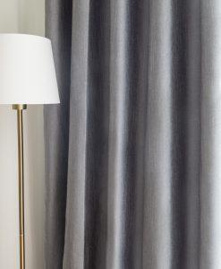 Måttillverkad hotellgardin Coola, skuggningsgardin (80% mörkläggande), grå