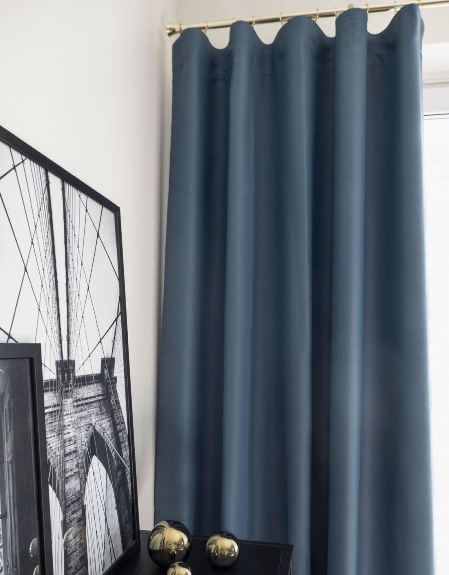Højmoderne Gardin Dokie, mörkläggande 95%, blå | Hasta Home OP-34