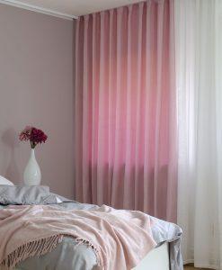 Måttillverkad hotellgardin Yeda, skuggningsgardin, rosa