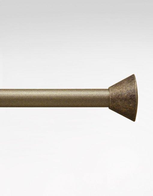 Gardinstång Kona, 11/13 mm, antikmässing/guldnougat