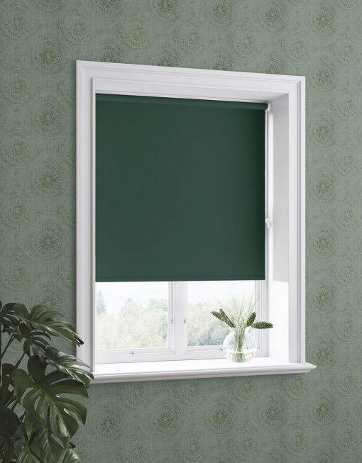 Mörkläggande rullgardin, Diamond, måttillverkad, grön