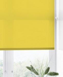Hasta Tension, skruvfri rullgardin, avskärmande Opal, gul