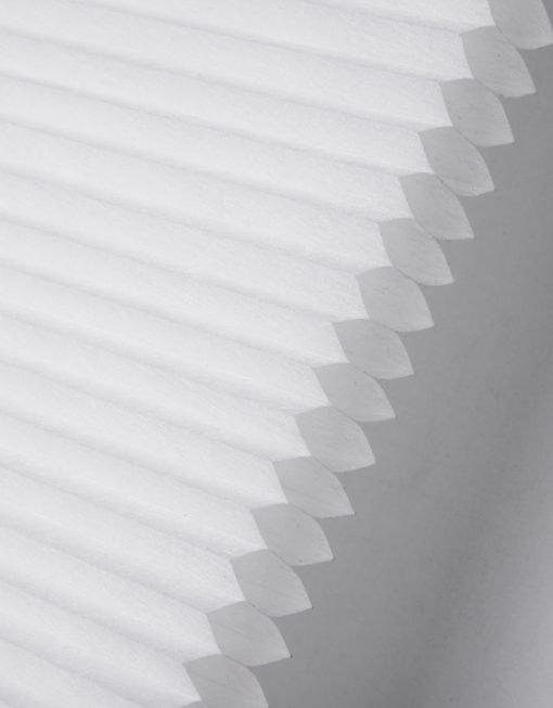 Multifix plisségardin honeycomb, vit, avskärmade, måttillverkad