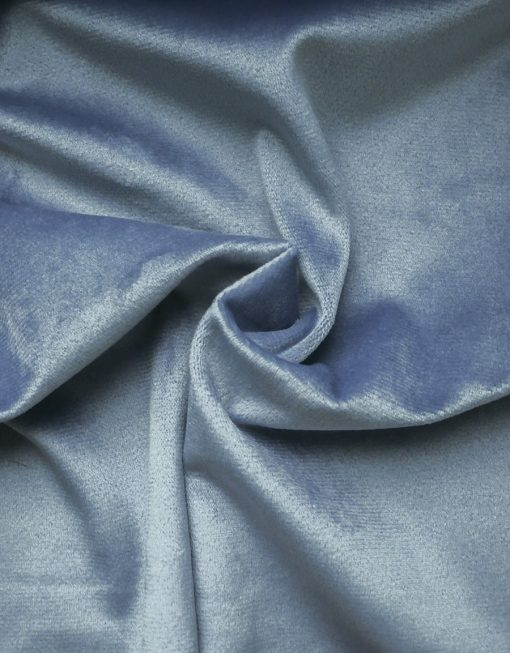 Sammetsgardin måttillverkad Ljuva, blå, hotellgardin