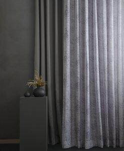 Måttillverkad gardin, Old Orient, grå/lila