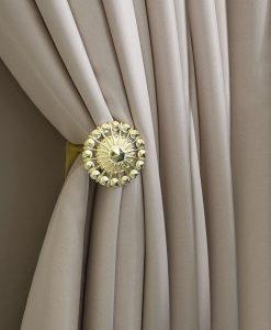 Omtagsfäste för gardiner, mässing