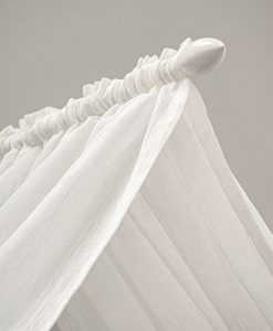 Sänghimmel i transparent tyg, vit