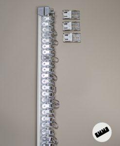 Gardinskena Bendable, vit, måttillverkad