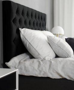 Kontinentalsäng LECTUS SELECT™, svart, komplett paket